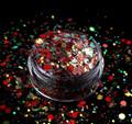 TNS Red Pizzazz Glitter Mix for Nail Art - 1oz Bag