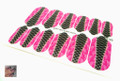 Glamstripes Nail Covers - Pink & Black Corset (Full Nail)