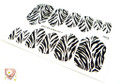 Glamstripes Toe Nail Covers - Zebra Stripes