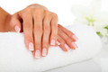 White Foam Manicure Arm Rest  (Washable Terry Towel Cover)