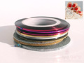Coloured & Glittered Striping Tape for Nail Art