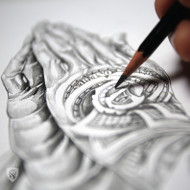 Money Rose Hands from sketch to Final art