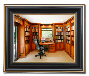 Photograph of a beautiful office for study.