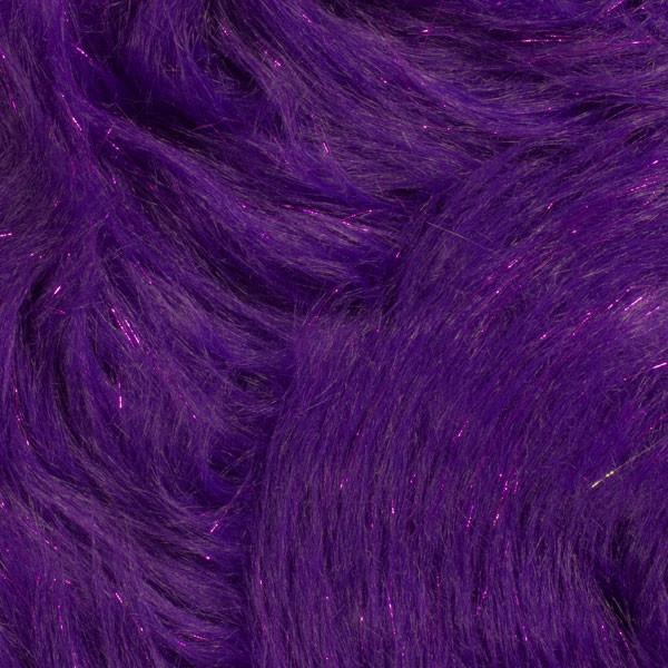 Purple Glitter Fox Faux Fur