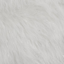 White Glitter Fox Faux Fur