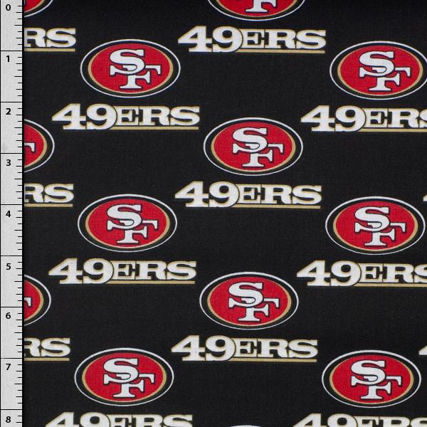 "58"" San Francisco 49ers 100% Cotton Broadcloth"