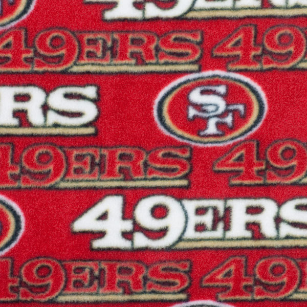 San Francisco 49ers Fleece Print