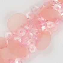 Pink Sequined and Beaded Medallion Trim - Enlarged to show detail