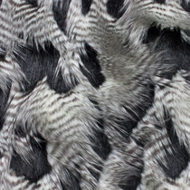 Black, Brown, and White Feather Fur