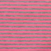 "Pink and Gray 1/4"" Striped Jersey Knit Fabric"