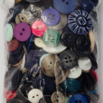 Miscellaneous colored buttons by the bag
