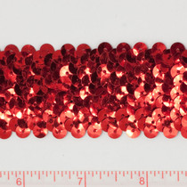 "Red 1.5"" Sequin Trim"