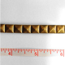 Antique Brass Iron-On Stud Trim
