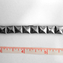 Silver Iron-On Stud Trim