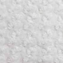 White Rosette Cuddle Faux Fur Fabric