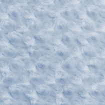 Baby Blue Rosette Cuddle Faux Fur Fabric