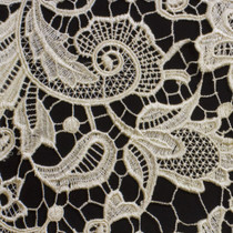 Ivory Lace Fabric - Close-Up to Show Detail