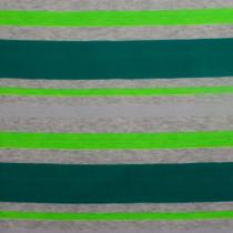 Teal, Green, & Grey Stripe Jersey Knit