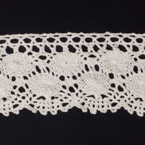 "Ivory  4"" Cotton Crochet Lace"