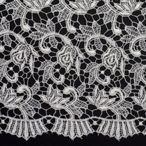 Ivory Designer Fashion Lace Fabric