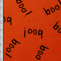 Orange 'Boo!' Halloween Cotton Print #8523