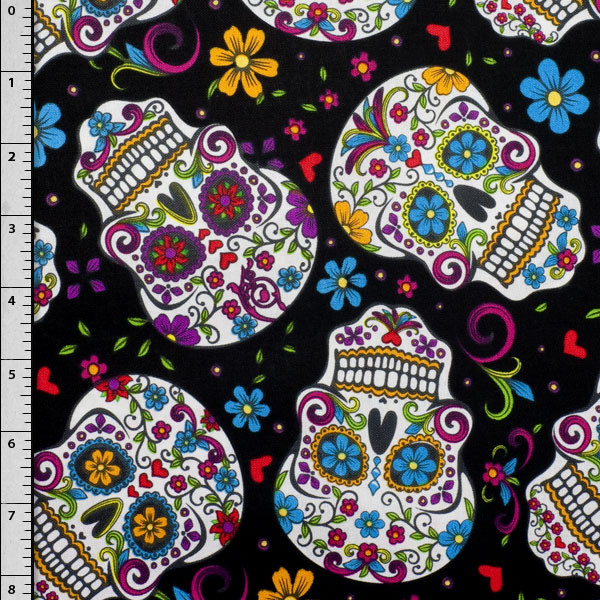 Day of the Dead Cotton Print Fabric