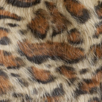 Leopard Print Luxury Faux Fur Fabric