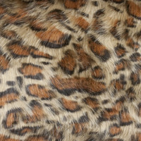 Leopard Print Luxury Faux Fur Fabric - Wider Shot to Show More of Print
