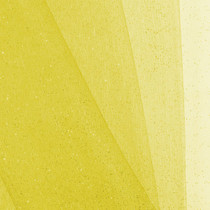 Yellow Glitter Netting Fabric