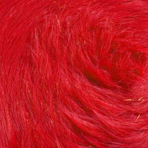Red Glitter Fox Faux Fur