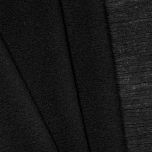 Black Cotton Gauze Fabric