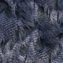 Denim Blue High/Low Luxury Feather Fur Fabric