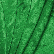 Kelly Green Crushed Panne Velour Fabric