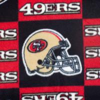 San Francisco 49ers Checkered NFL Fleece Print