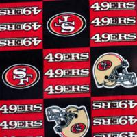 San Francisco 49ers Checkered NFL Fleece Print - Wider shot to show print