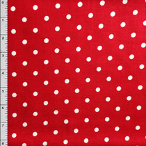 """White/Red Polka Dots"" by David Textiles Cotton Print Fabric"