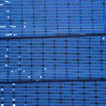 Bright Blue Squares and Circles 4-way Stretch Sequin Fabric