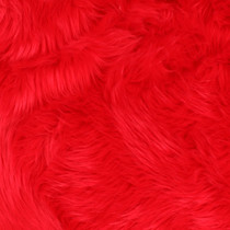 Fire Red Shag Faux Fur