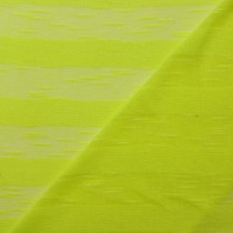 "Neon Yellow 1"" Burnout Stripe Lightweight Sweater Knit"