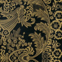 """Paradise Lace"" Gold on Black Oilcloth"