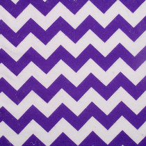 Purple and White Chevron Flannel Print Fabric