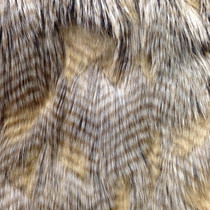 Brown High/Low Luxury Feather Fur