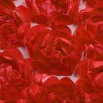 Large Red Rosette Fabric