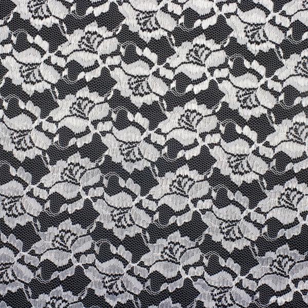 White Designer Floral Lace Fabric