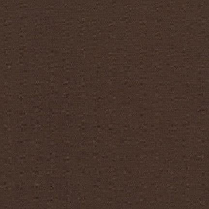 Chocolate Kona Cotton Solid Fabric by Robert Kaufman