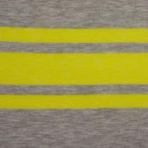 Yellow & Grey Striped Jersey Knit