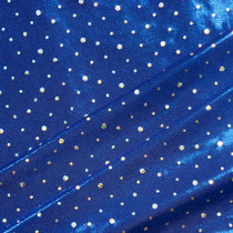 Royal Blue with Holographic Silver Dots Stretch Mystique