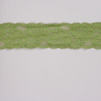 "Avocado Green 2"" Stretch Lace Trim"