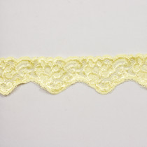 "2"" Lemon Yellow Floral Stretch Trim"