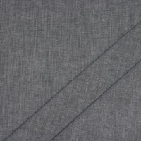 Dark Grey Cotton Chambray Fabric